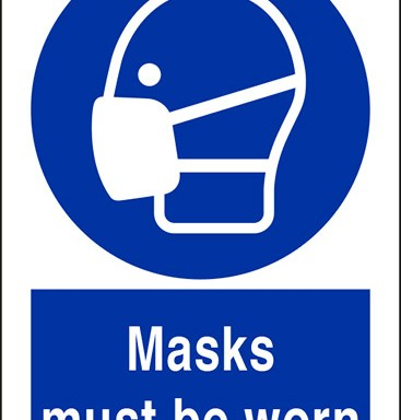 Masks must be worn