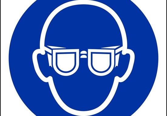 (e' obbligatorio indossare le protezioni degli occhi – wear eye protection)