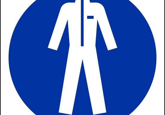 (e' obbligatorio indossare indumenti protettivi – wear protective clothing)