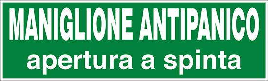 MANIGLIONE ANTIPANICO APERTURA A SPINTA