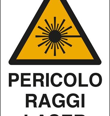 PERICOLO RAGGI LASER