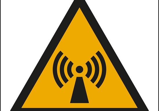 (pericolo radiazioni non ionizzanti – warning: non-ionizing radiation)