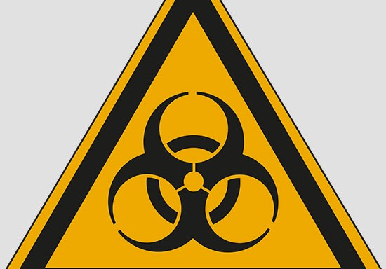(warning: biological hazard)
