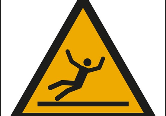 (attenzione superficie scivolosa – warning: slippery surface)