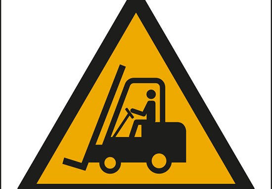 (pericolo carrelli elevatori ed altri veicoli industriali – warning: forklift trucks and other industrial vehicles)