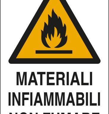 MATERIALI INFIAMMABILI NON FUMARE