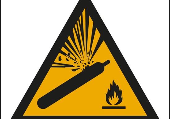 (pericolo bombola pressurizzata – warning: pressurized cylinder)