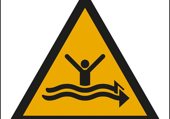 (attenzione; forti correnti – warning; strong currents)