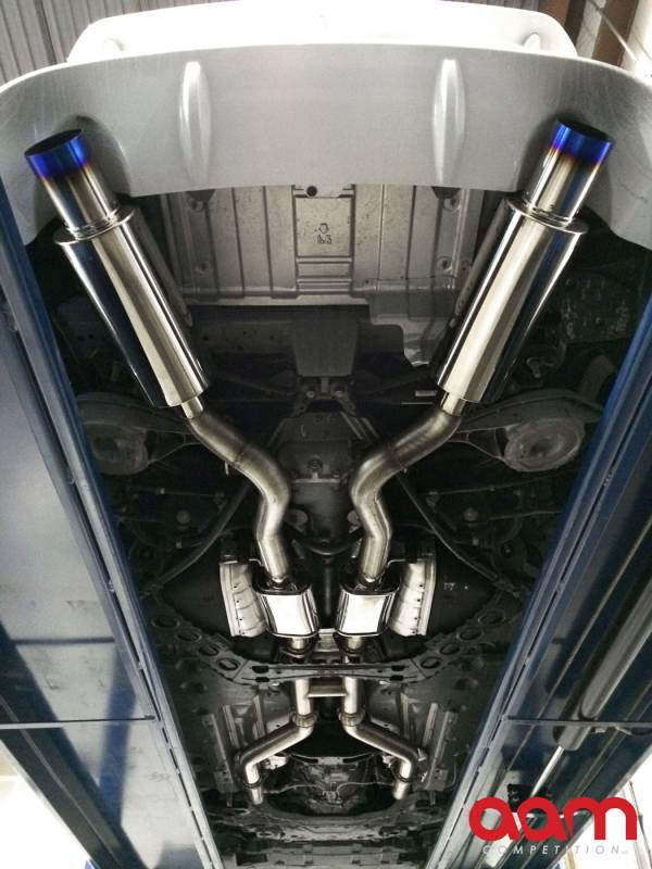 aam competition 370z 3 true dual exhaust system w titanium tip