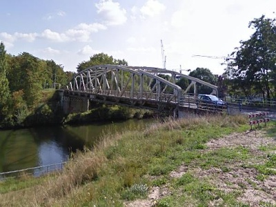 Tijdelijke fietsbrug Itteren