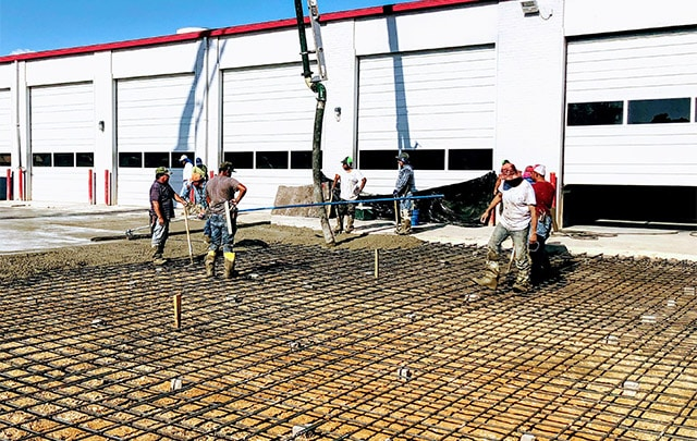 Commercial Concrete with Rebar Bars