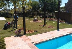 Before - Poolside Pergola