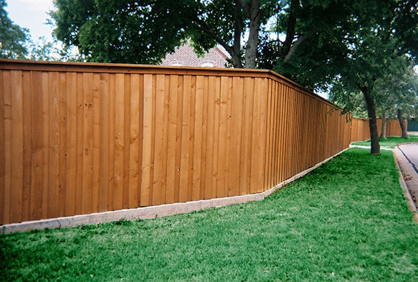 Residential Wood Fence - Board on Board Style