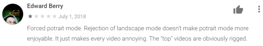 Play store review