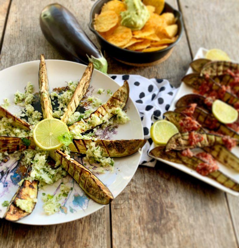 Aubergine mexicaanse salsa