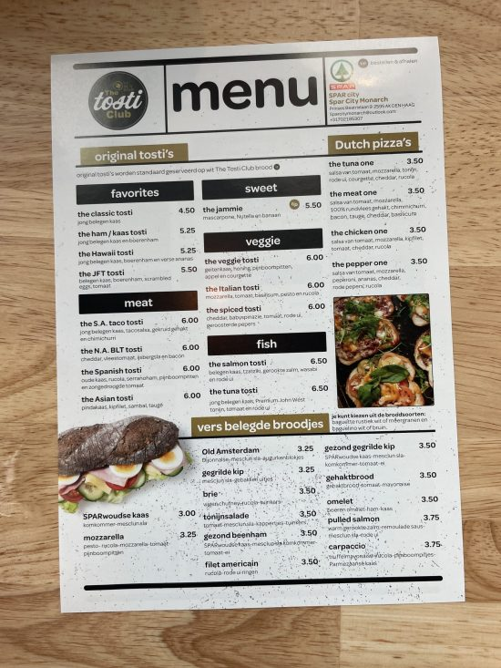 Beemster zomertour menu tosti