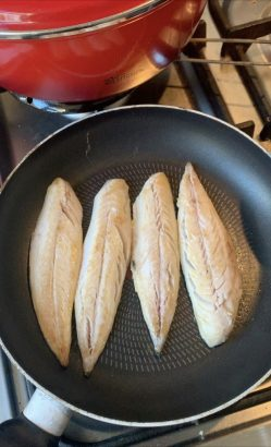 Pepesan Ikan Gebakken Makreel In Hete Saus Aan Tafel Met Tammie