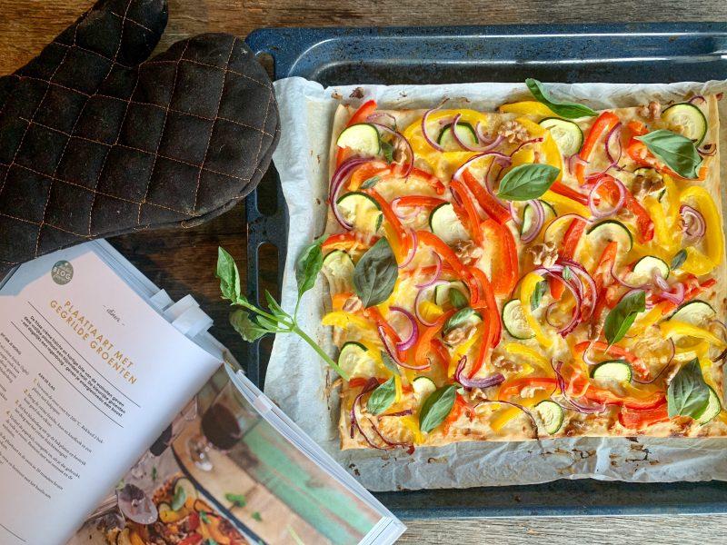 Plaattaart gegrilde groenten met walnoten van Charlies Kitchen