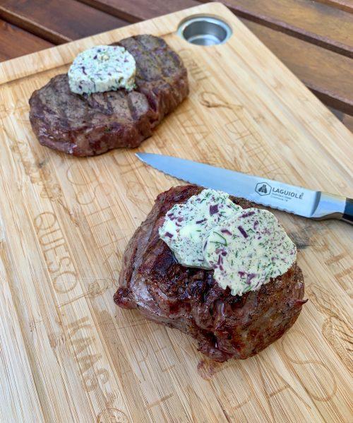 Vlees met rode wijn-sjalottenboter