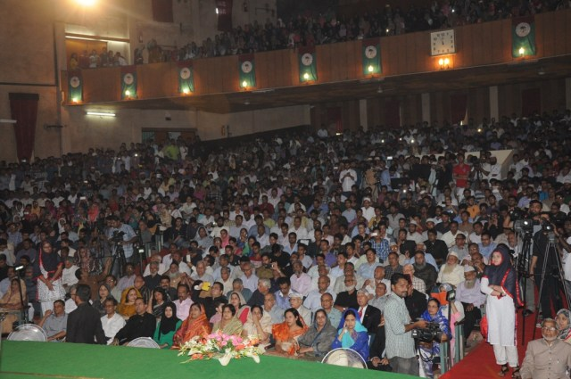 Audience present in the Sir Syed Day commemoration celebration