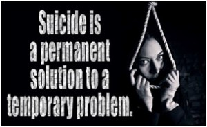 SUICIDE: NOT THE WAY OF TACKLING PROBLEMS