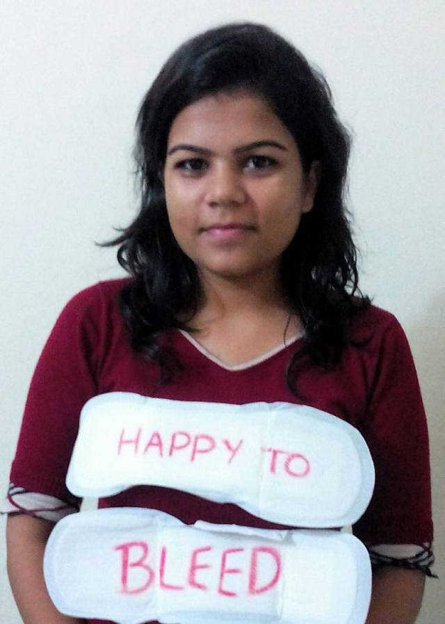 "Nikita Azad- Founder of ""Happy to Bleed"""