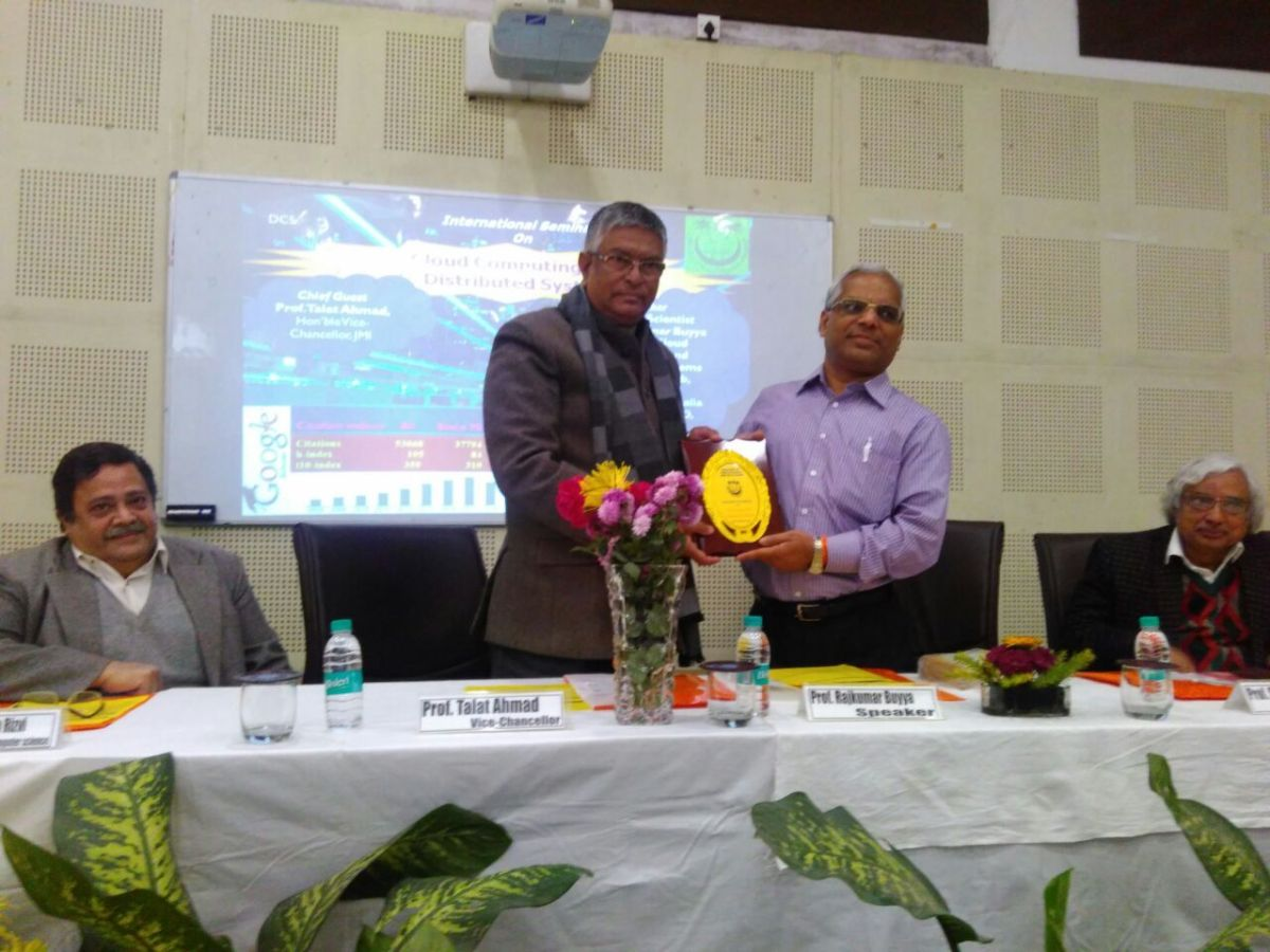 """Cloud Computing is the next big revolution in IT'' Says  Prof. Buyya in International Seminar in Jamia Millia Islamia"
