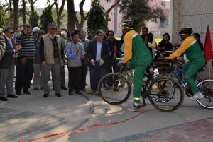 Jamia Students Cycled to create awareness