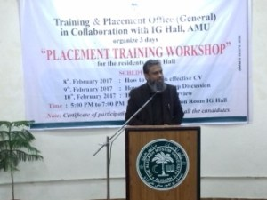 AMU organises  'Placement Training Workshop' for girls