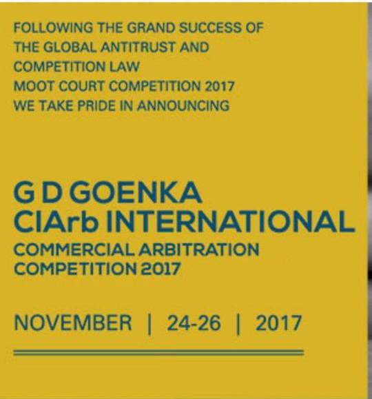 G.D​. ​Goenka University​ ​is​ all​ ​set​ ​to​ ​host​ ​the​ ​CIArb​ ​International​ ​Commercial​ ​Arbitration​ ​Competition