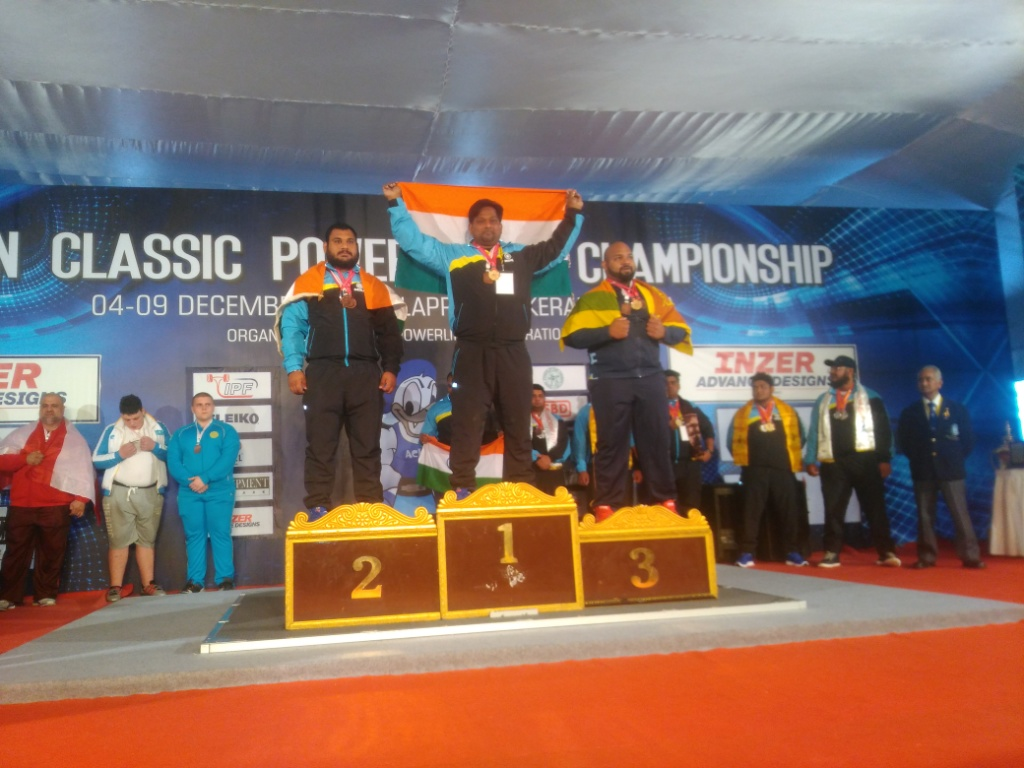 Jamia faculty wins Gold and Silver Medals in Asian Classic Powerlifting Championship 2017