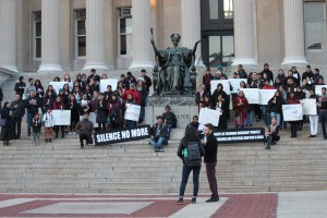 Students of Columbia University hold a candlelight vigil to protest the heinous rapes in Kathua and Unnao