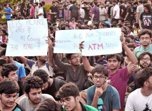 Fee hike by administration leads to historical protest by students at BITS