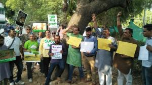 Government's plan of planting equal saplings disregarded by Delhi people, Protested against felling of 16500 trees