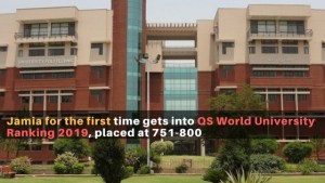 Jamia for the first time gets into QS World University Ranking 2019, placed at 751-800