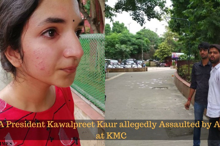 AISA President Kawalpreet Kaur allegedly Assaulted by ABVP at KMC