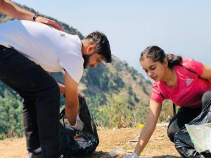 A cleanliness drive in Mussoorie to save mountains