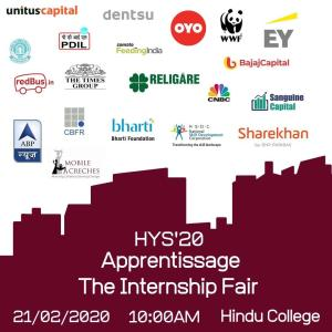 The sixth edition of Hindu Youth Summit is back with Apprentissage, The Internship Fair of Hindu College, bigger and better