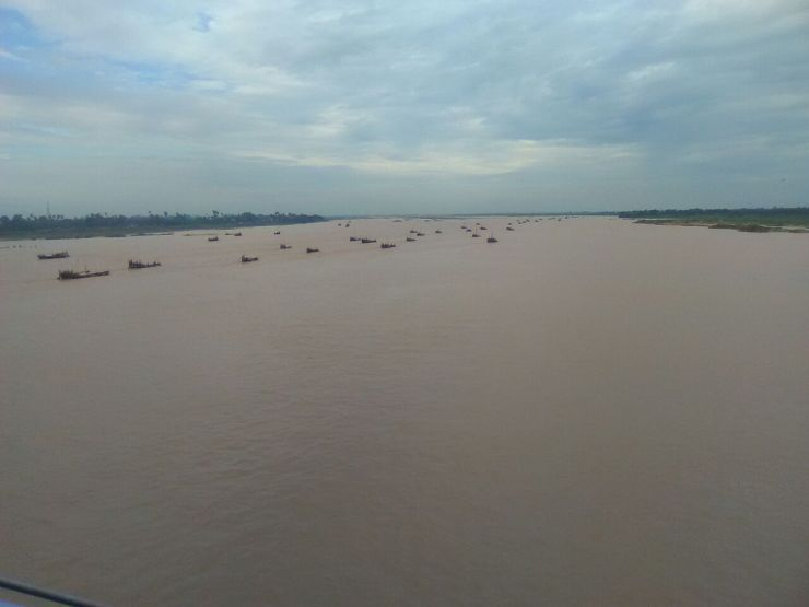 सोन नदी का बढा जल स्तर