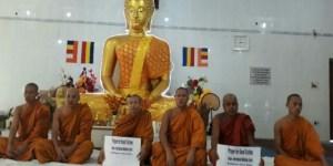 बोधगया: बाढ़ पीड़ितों की कुशलता के लिए बौद्ध भिक्षुओं ने की विशेष पूजा