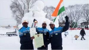 स्नो स्कल्पचर कॉम्पिटिशन में भारत को प्रथम स्थान दिला, बिहार के रवि ने जापान में लहराया तिरंगा