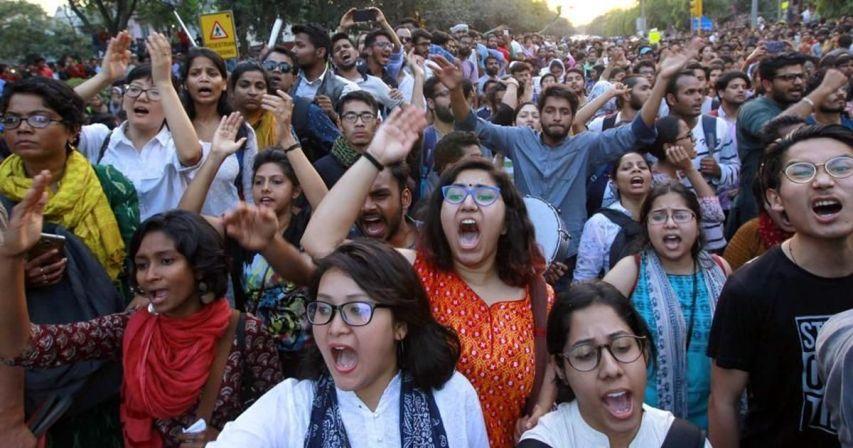 JNU Protest, JNUSU, Bihari