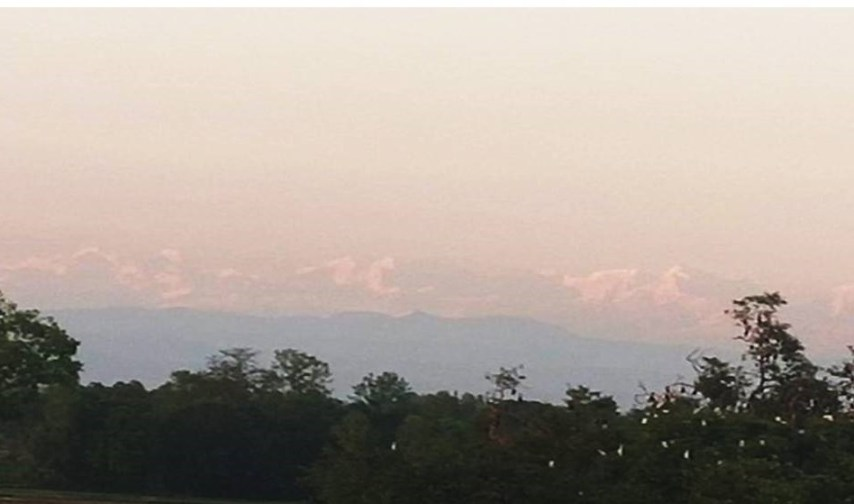 Mount Everest from sitamarhi, View of Mount Everest From Bihar