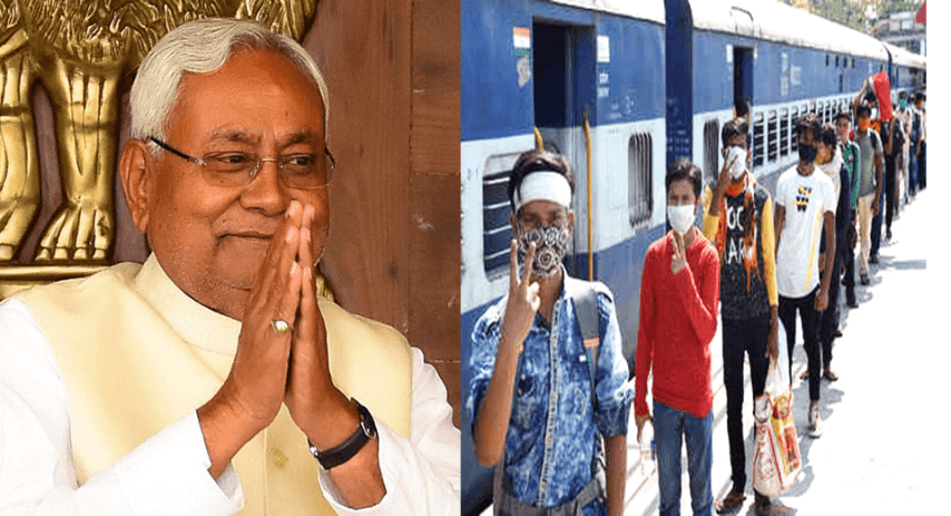 Nitish kumar to migrants, Special train to Bihar, Schedule of special train for migrantsa, Schedule of shramik Special Train