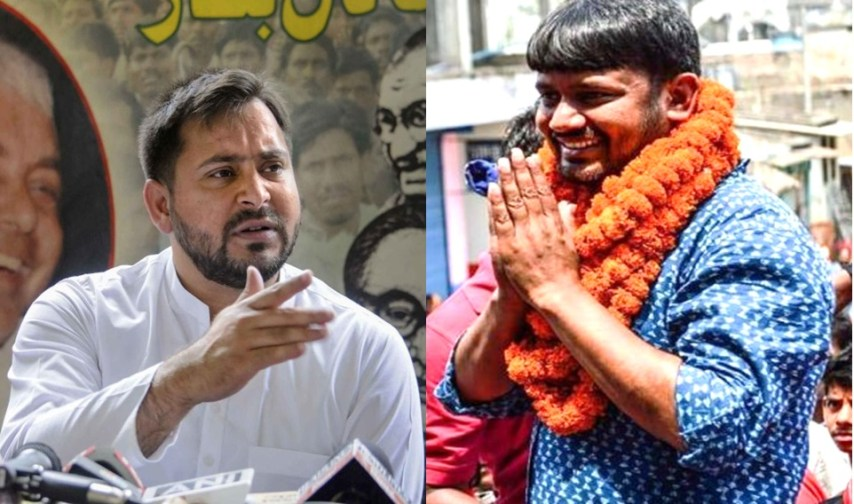 tejaswi yadav, kanhaiya kumar, cpi, RJD, Bihar Election
