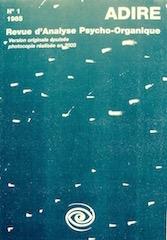 N° 1 – REVUE DE PSYCHOLOGIE BIODYNAMIQUE (1985)