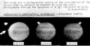 Occultation of B Scorpii by Jupiter