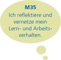 M35: Ich reflektiere und vernetze mein Lern- und Arbeitsverhalten.