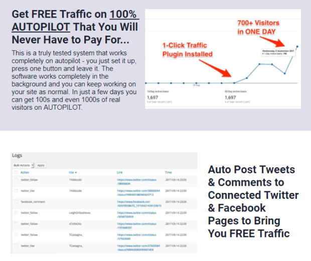 WP 1-Click Traffic By Ankur Shukla Video