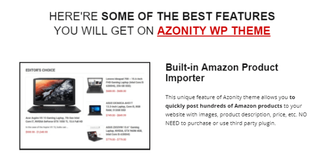 Azonity Wp Theme Developer License By Bcbiz Features